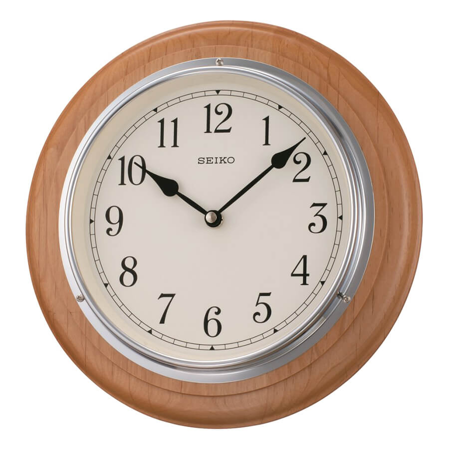 đồng hồ treo tường bằng gỗ hình tròn