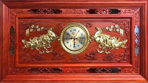 Tranh đồng hồ bằng gỗ