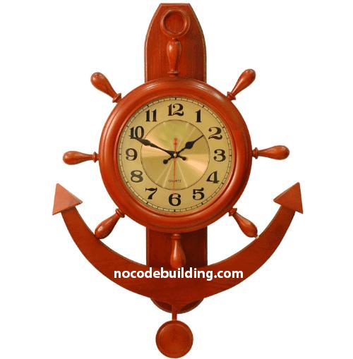 Đồng hồ treo tường hình mỏ neo